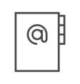 Address Book Line Icon vector image