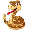 Cartoon rattlesnake vector image