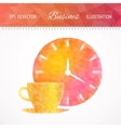 Coffee cup and clock vector image