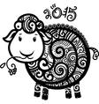 2015 decorative lamb vector image vector image