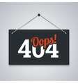 404 sign for website server error vector image vector image