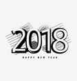 abstract 2018 happy new year text design vector image vector image