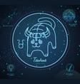 astrology neon taurus zodiac sign funny cat