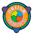 Autism Awareness T-shirt Typography vector image