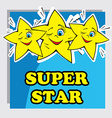 Baby Card with Super Star vector image vector image