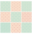 Backgrounds set Seamless wallpaper vintage vector image vector image