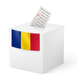 Ballot box with voting paper Chad vector image vector image