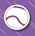 baseball ball sport patch sticker vector image vector image