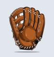baseball glove isolated equipment vector image