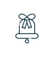 bell happy christmas line icon vector image vector image