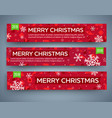 big sale banner set vector image vector image