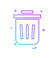 bin dustbin full garbage recycle trash icon design vector image