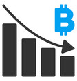 bitcoin recession bar chart flat icon vector image vector image