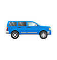 blue sport utility car in simple cartoon style vector image