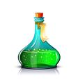 Bottle of green elixir vector image