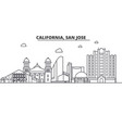 california san jose architecture line skyline vector image vector image