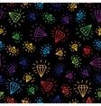 cartoon diamond seamless background template vector image vector image