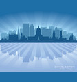charleston west virginia city skyline silhouette vector image vector image