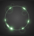 circle of light green color vector image vector image