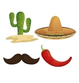 collection icons mexican culture grpahic isolated vector image vector image