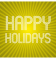 color yellow shadow abstract design happy holidays vector image
