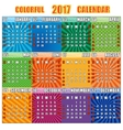 Colorful calendar for 2017 year vector image