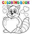 coloring book valentine topic 3 vector image vector image