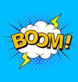 comics boom comic cartoon vector image