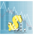 Concept for economy stock and currency market vector image