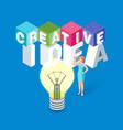 creative idea concept vector image