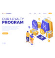customer loyalty programs banner vector image