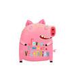 cute fat pig i am not vegetarian sign vector image vector image