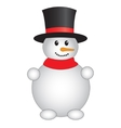 Cute snowman on white background vector image