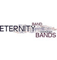 eternity bands do last forever text background vector image vector image