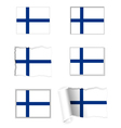 Finland flag set vector image