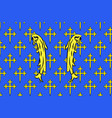 flag of meuse in grand est is a french vector image