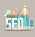 flat design modern concept of seo word combined vector image vector image
