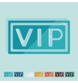 Flat design vip vector image