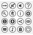 Flat game icons set vector image vector image