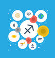 flat icons archer fishes optics and other vector image vector image