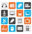 Flat Media equipment icons vector image vector image