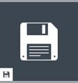 floppy disk line related glyph icon vector image vector image