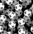 Football ball 3d seamless pattern Sports accessory vector image