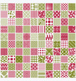 graphic red and green ornamental tiles collection vector image vector image