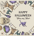 halloween wreath card or banner template vector image vector image