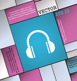 headphones icon sign Modern flat style for your vector image