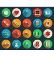 Health care and medicine icons in flat style vector image vector image