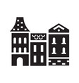 historic europe town logotype vector image vector image