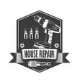 house repair monochrome vector image