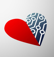 human heart Stock vector image vector image